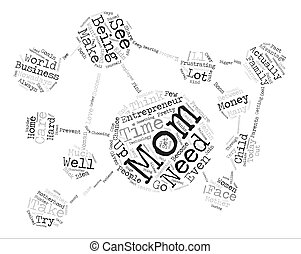 mom entrepreneurs Word Cloud Concept Text Background