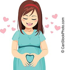 Mom Heart shape