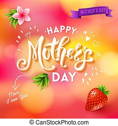 Mom I love you mothers day template with banner