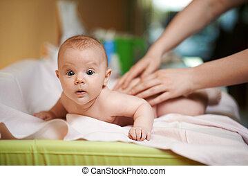 Mature massage mom