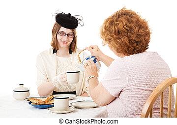 Mom Pours the Tea