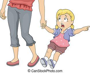 Mom Pulling Girl