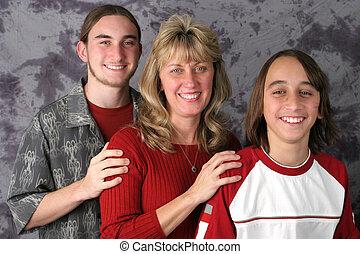Mom & Sons Portrait 1