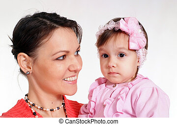 mom with daughter