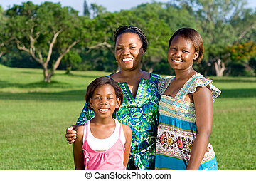 mom with daughters - mom with her pretty daughters