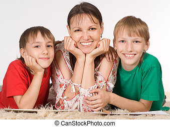 mom with sons