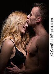 moment, passionné, amants, intime