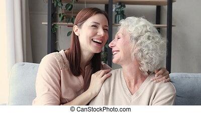 moment., rodzinne generacje, różny, kochający, słodki, ...