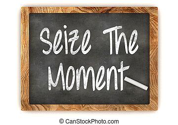 momento, chalkboard, apreender