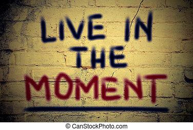 momento, concepto, vivo