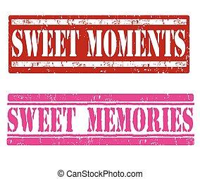 momentos, dulce, memorias, c/