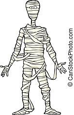 momia, antiguo, egipcio