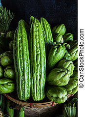 Momordica charantia often called bitter melon bitter gourd or bitter squash in English has many other local names.