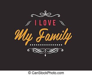 mon, amour, famille