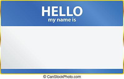 mon, bonjour, carte, nom