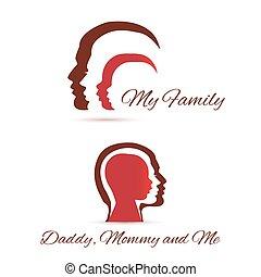 mon, famille, icônes