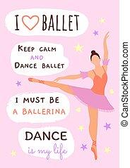mon, life., danse, rose, slogans, around:, devoir,...