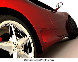 mon, rêve, voiture