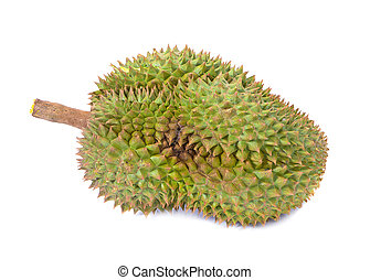 mon thong durian is fruit plate tropical durian and king of fruits durian on white background healthy durian fruit food isolated