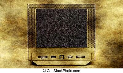 mon, tv, ami, concept, pas