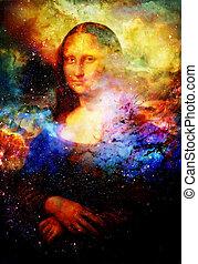mona, ζωγραφική , leonardo , lisa, da , αναπαραγωγή , space...