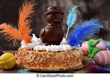 mona, de, pascua, pastel, comido, en, españa, en, pascua, lunes