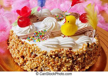 mona, de, pascua, un, adornado, pastel, comido, en, españa, en, pascua, mond