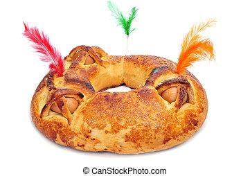 mona, españa, pastel, tradicional, típico, pascua, de, ...