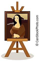 Mona Lisa Easel