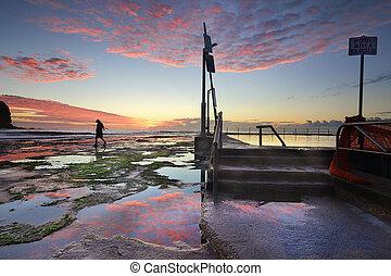 Mona Vale Sunrise seascape Sydney Australia