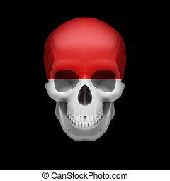 Monacan flag skull