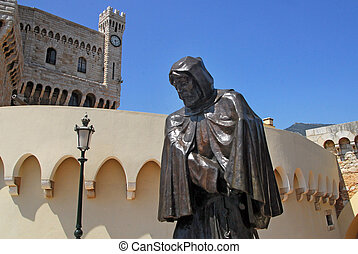 Monaco and Monte Carlo Kingdom - A statue Prince's Palace of...