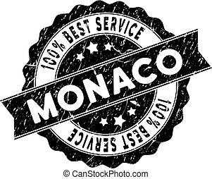 Monaco Best Service Stamp with Distress Style