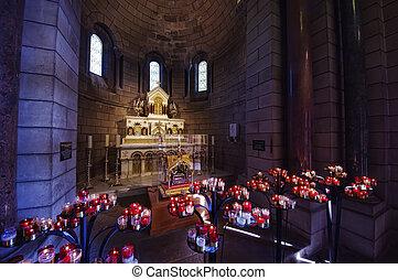 Monaco cathedral interior - details of Saint Nicholas ...