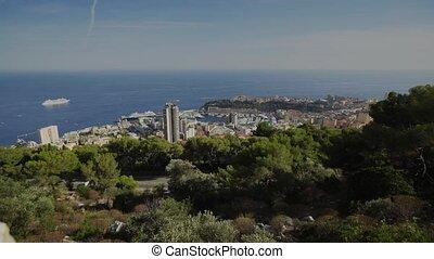 Monaco city town Monte Carlo Summer day Time-lapse - Monaco...