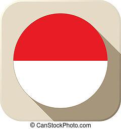 Monaco Flag Button Icon Modern