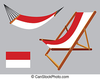 monaco hammock and deck chair set against gray background,...