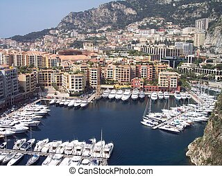 This is beautiful Monaco harbour, in the south of France.