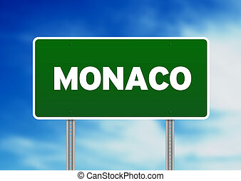 Monaco Highway Sign