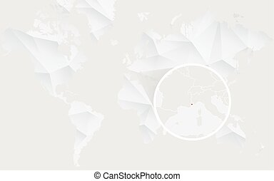 Colombia map with flag in contour on white polygonal world monaco map with flag in contour on white polygonal world map gumiabroncs Gallery