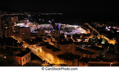 Monaco, Monte Carlo, 24 May 2013: The night party on the big...