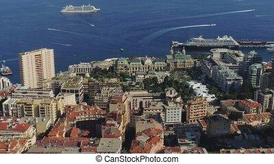 Monaco Monte Carlo city France sea town port yahts flats...