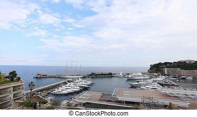 Monaco Monte Carlo Harbor - DSLR Full HD progressive video...