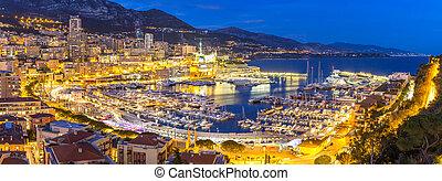 Monaco Monte Carlo harbour french riviera panorama