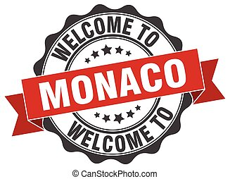 Monaco round ribbon seal
