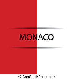 Monaco text on special background allusive to the flag