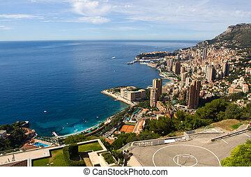 Monaco. View from the top - Monaco. View from the hill. ...