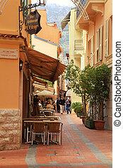 Monaco-ville street - MONACO, MONTE-CARLO - MAY 15: Narrow...