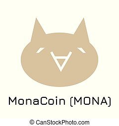 MonaCoin (MONA). Vector illustration crypto coin