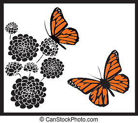 monarch butterflies - Is a illustration in a EPS file.
